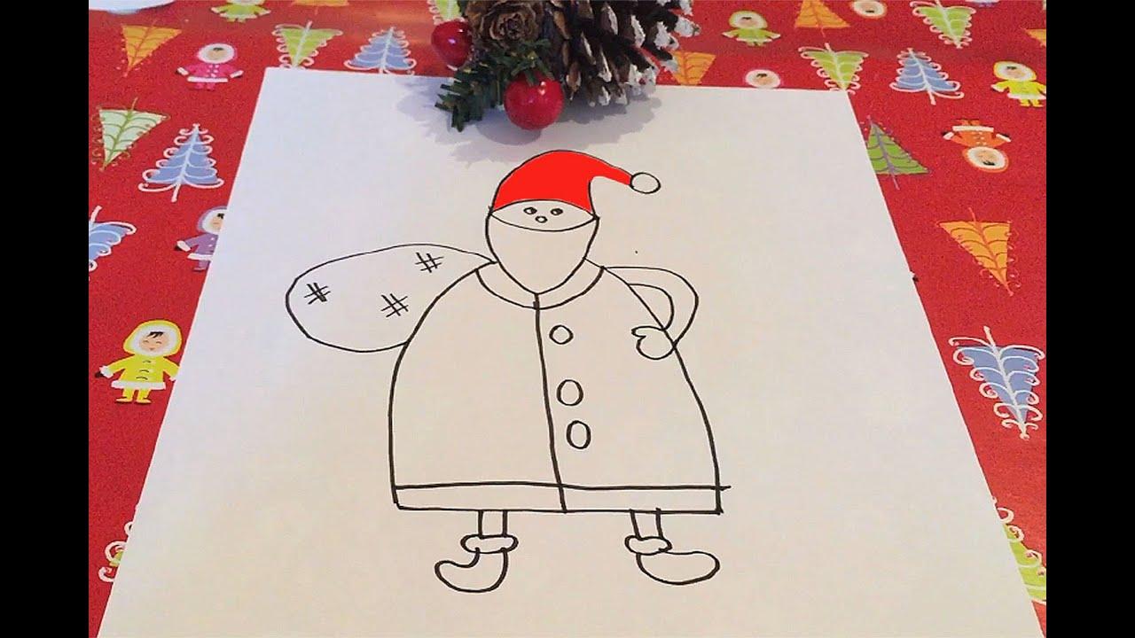 Cómo dibujar a Papá Noel con los niños