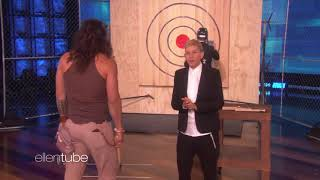 Jason Momoa Flexes His Ax Throwing Muscles for Charity