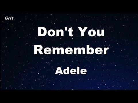 Don't You Remember - Adele Karaoke 【No Guide Melody】 Instrumental