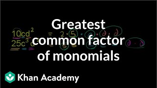 Monomial Greatest Common Factor