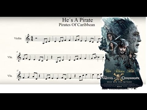 pirates of the caribbean-He's a pirate Violin Musicsheet