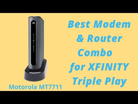 Best Gateway (Modem and Router Combo) for Comcast Xfinity Triple Play - Motorola MT7711