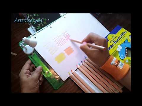 Test Jumbo Buntstifte Leicht zu halten Superstarke Mine Brillante Farben, Prueba de Jumbo Crayons