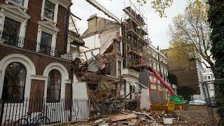 video: Movie mogul family's £6m Chelsea home collapses during basement work