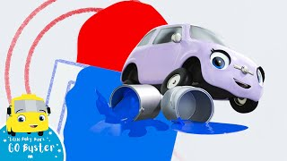 Learning Shapes - Go Buster The Yellow Bus | Nursery Rhymes & Cartoons | LBB Kids