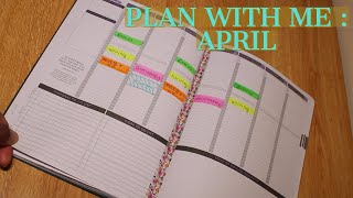Plan With Me: April (college freshman) || The Passion Planner