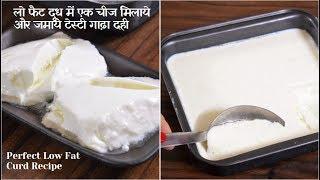 पतले दूध से गाढ़ा दही ज़माने का सटीक तरीका- How to Set Thick Low Fat Curd At Home - Food Connection