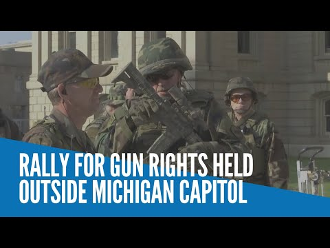 [Inquirer]  Rally for gun rights held outside Michigan Capitol