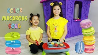 Ceylin-H | Color Macarons Song - Little Babies Learn Colors With Finger Family Song Pretend Play