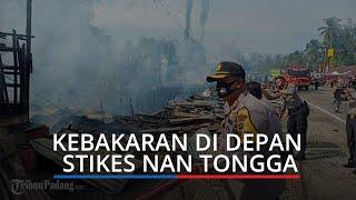 Tujuh Kios Ludes Terbakar, Api Diduga Berasal dari Pembakaran Sampah