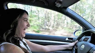 Girlfriend tries Launch Control in R32!