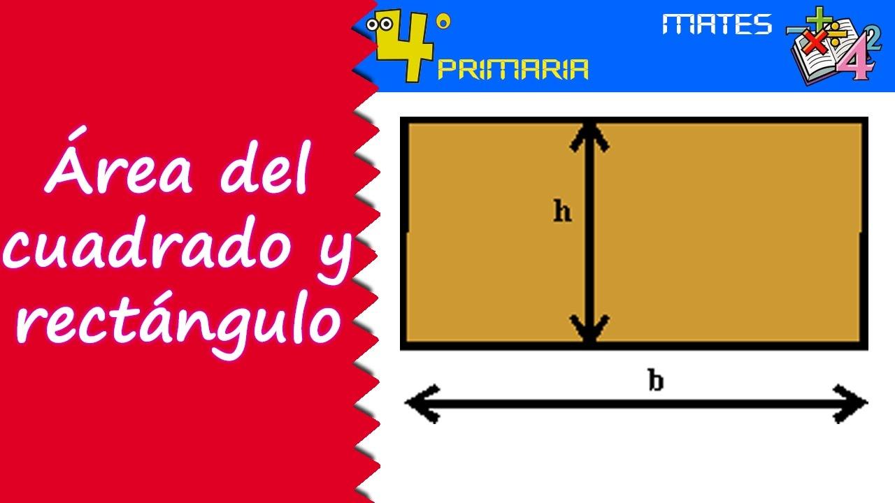 Matemáticas. 4º Primaria. Tema 8. Áreas del rectángulo y del cuadrado
