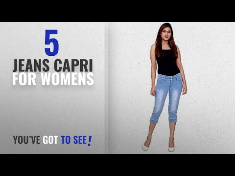 Top 10 Jeans Capri For Womens [2018]: FNocks Women Stretchable Denim Modern Look Casual Capri
