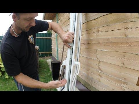 Как установить двухстороннюю ручку на пластиковую дверь (балконную) или окно.