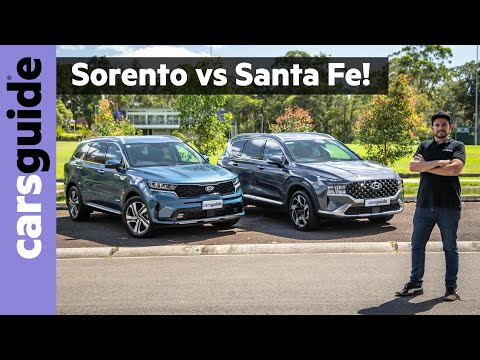 Hyundai Santa Fe vs Kia Sorento 2021 comparison review: 7-seater diesel AWD SUVs face off!