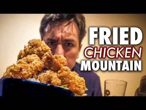 Hora křupavého japonského smaženého kuřete