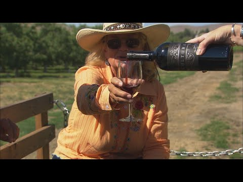 Wine tasting aboard a 'cowboy limo' in Yakima County - KING 5 Evening
