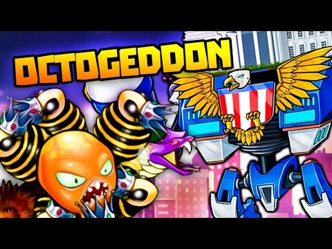 MEGA AMERICA ROBOT DESTROYS MUTANT OCTOPUS! - Octogeddon Gameplay
