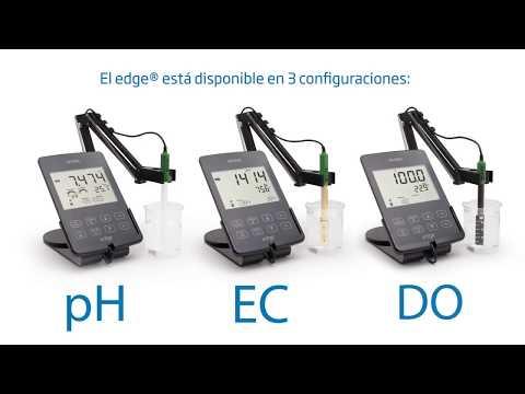 Medidor multiparámetro edge® HI 2020 mide pH, Conductividad, y Oxígeno Disuelto.