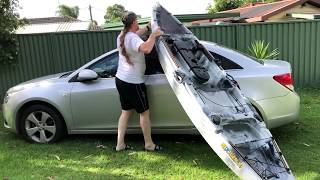 How to put a Kayak onto & off a car by yourself - HD