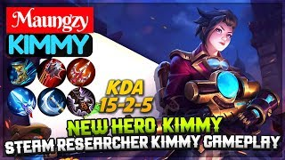 New Hero  Kimmy, Steam Researcher Kimmy gameplay [ Alter Ego Maungzy ] Maungzy Kimmy Mobile Legends