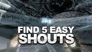 Skyrim: Find 5 Easy Shouts