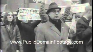 Pro-American crowd demonstrates in Sweden for international trade archival footage