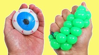 What's Inside These Squishy Smash Water Toys & Color Changing Mesh Balls?!