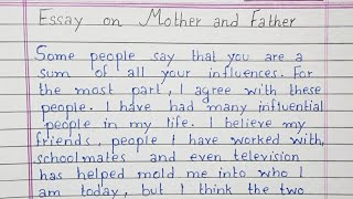 Write an essay on Mother and Father   essay on Parents   English