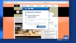 Crea tu página web con 1&1 MyWeb