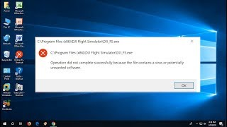 Fix Operation did not complete successfully because the file contains a virus (100% Works)