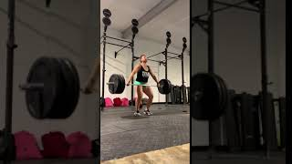 135 above knee hang power snatch