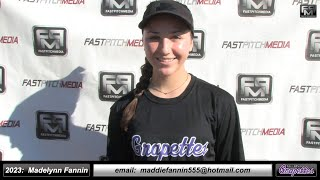 2023 Madelynn Fannin 3.5 GPA, Catcher and Outfielder Softball Skills Video - Grapettes Augusto
