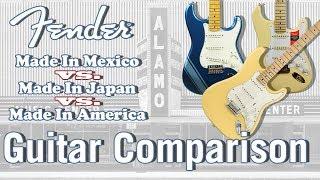 Fender Mexican vs Japanese vs American Made - Guitar Comparison