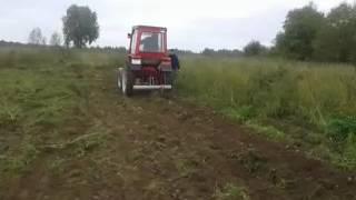Трактор т 25 . Простая самодельная картофелекопалка. Tractor t 25 . Simple homemade potato.