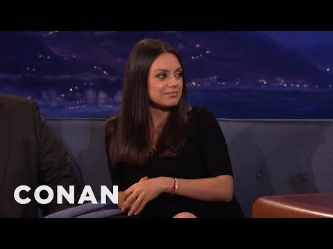 Mila Kunis & Ashton Kutcher's Wedding Rings Are From Etsy  – CONAN on TBS