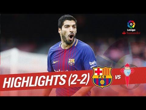 Resumen de FC Barcelona vs RC Celta (2-2)