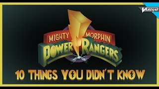 Power Rangers: 10 Things You Didn't Know!