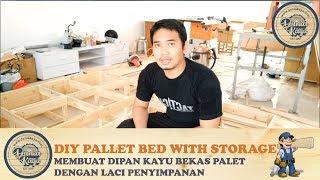 Cara Membuat Dipan Ranjang Minimalis Kayu Palet dg Laci Penyimpanan DIY PALLET BED FRAME (Part 1)