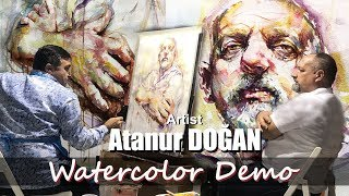IWS Italy Masterclass In Florence Artist Atanur Doğan Watercolor Portrait Demonstration