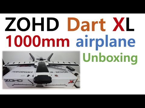 ZOHD Dart XL Extreme 1000mm plane unboxing