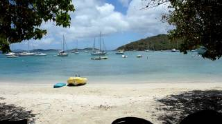 preview picture of video 'View of Cruz Bay from The Beach Bar'