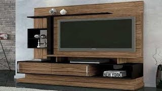 TV Cabinet Designs For Living Room India For Wall Wooden | Latest TV Cabinet Ki Design