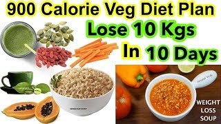 HOW TO LOSE WEIGHT FAST 10Kg in 10 Days | 900 Calorie Veg Diet Plan For Weight Loss Hindi