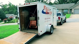New 2016 Enclosed Trailer Setup With SCAG VRide 52