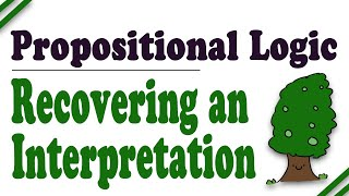 Propositional Logic: Truth Trees, Part 4 (Recovering an Interpretation)