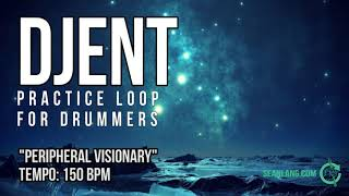 """Djent - Drumless Track For Drummers - """"Peripheral Visionary"""""""