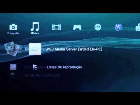 Usar a PlayStation 3 para reproduzir conteúdos armazenados no PC
