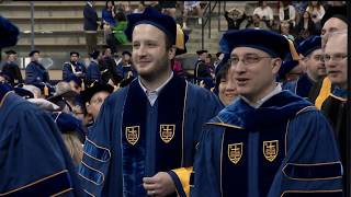 2018: Notre Dame Graduate School Commencement Ceremony and Conferring of Degrees