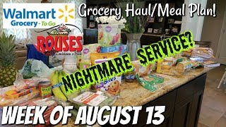 GROCERY HAUL & MEAL PLAN | WALMART | FAMILY OF 4 | 8/13/18
